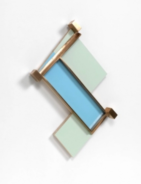 blue and green abstract sculpture