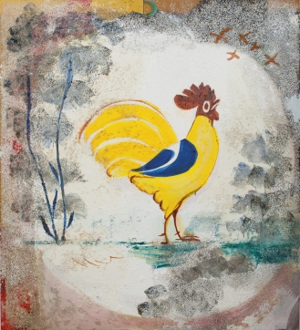 Painting of rooster