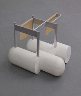 Rezac sculpture aluminum and Hydrocal