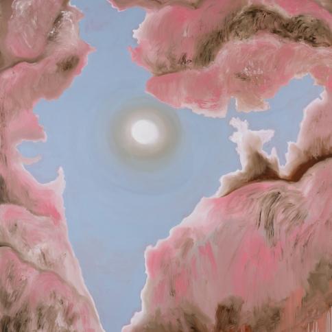 "Francesco Clemente, ""India IV"" (Detail), 2019, Oil on canvas"