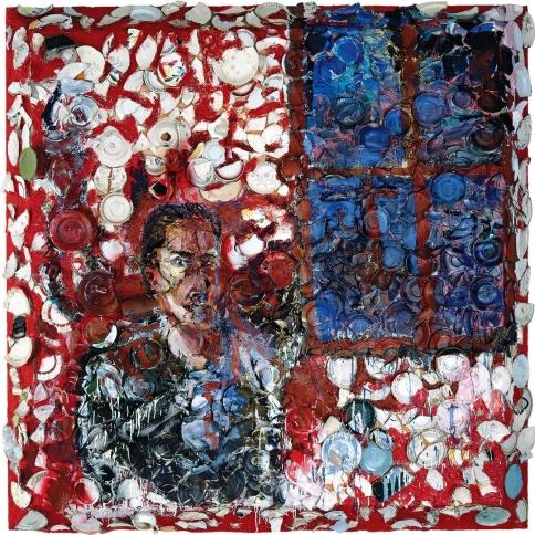 Self Portrait by a Red Window, 1982 by Julian Schnabel