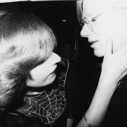 Photography of Catherine Guinness and Andy Warhol c. 1978 by Bob Colacello