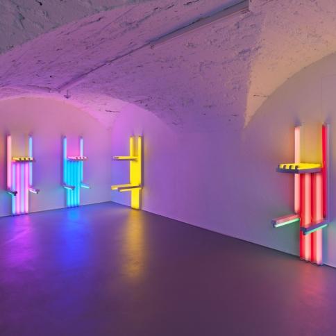 Light installation by Dan Flavin