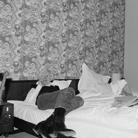 Andy at the Hotel Bristol, Bonn, 1976 by Bob Colacello