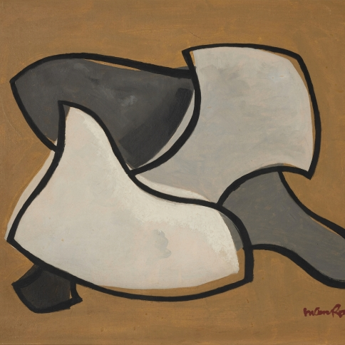 Oil painting by Man Ray titled The Tortoise, 1944