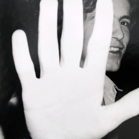 Photograph of a mystery man in black and white by Bob Colacello