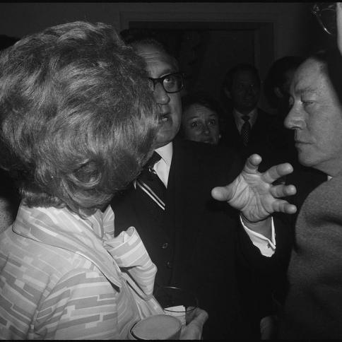 """Henry Kissinger Holding Forth, Washington D.C.,"" c. 1976."