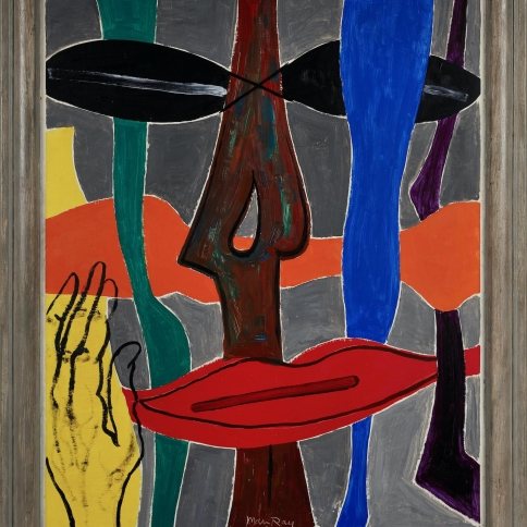An abstract painting by Man Ray