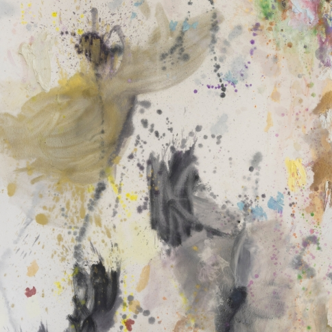 Mixed media on canvas painting by Caitlin Lonegan