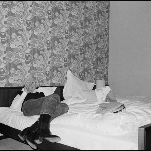 Bob Colacello, Andy at the Hotel Bristol, Bonn, 1976.