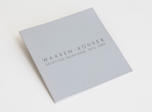 Warren Rohrer: Selected Paintings (1973–1989)