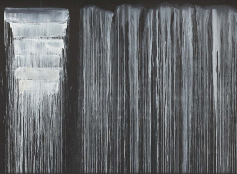 The Barnes Foundation—Pat Steir Silent Secret Waterfalls: The Barnes Series
