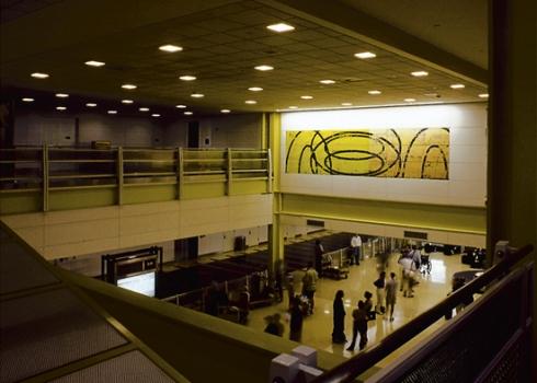 "David Row ""Roundtrip"" Mural in Washington National Airport"