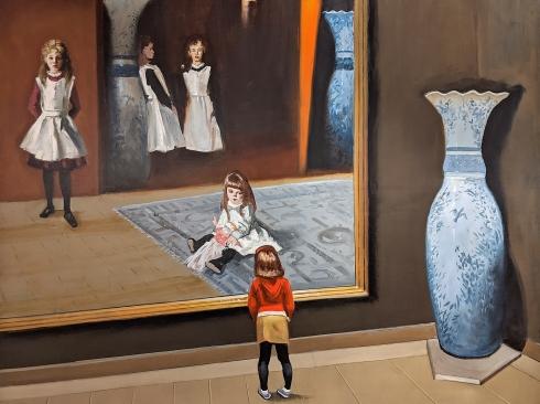 MICHAEL DVORTCSAK (1938-2019), Visiting the Boit Sisters, 2012