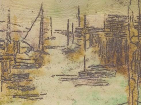 NELL BROOKER MAYHEW (1876-1940), Evening Boats, c. 1905