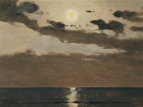 LOCKWOOD DE FOREST (1850-1932), Sublime Moonlight from the Shore, 1918