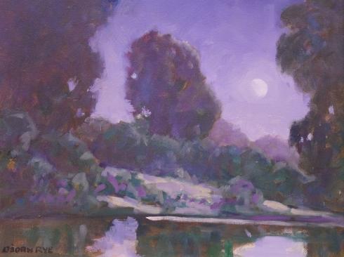 BJORN RYE (1942-1998), Moonlight, Santa Ynez River, 9/17/96