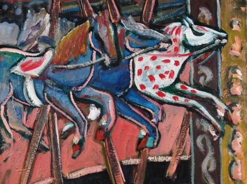 ANDERS ALDRIN (1889-1970), Carousel Horses, c. 1950
