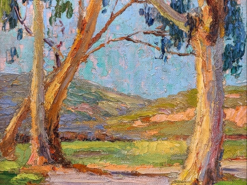 ANNA HILLS (1882-1930), Eucalyptus, Road to Hills, c.1920