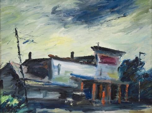 DAN LUTZ (1906-1978), Sphinx Corner