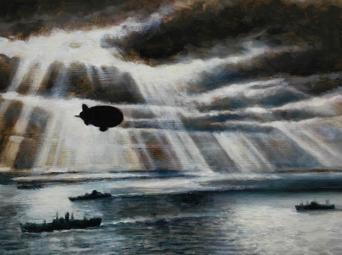 LAWRENCE GIPE, Study for Convoy, 1945, 1940, 2018