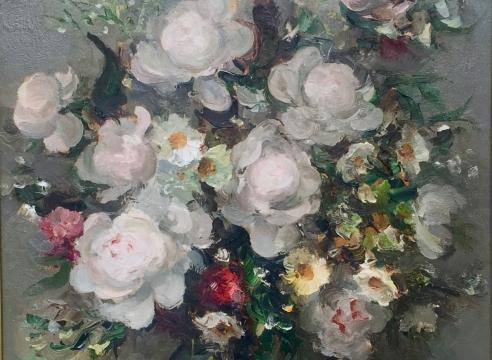 Marcel Dyf Fleurs oil on canvas