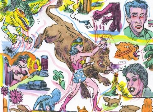 Gary Panter: Watercolors