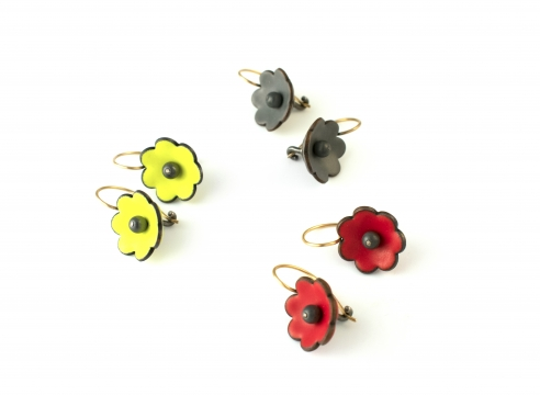 Flower Earrings by Joan Parcher
