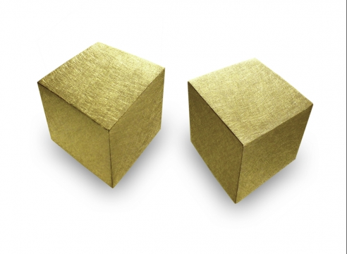 Cubes earrings by Claude Chavent