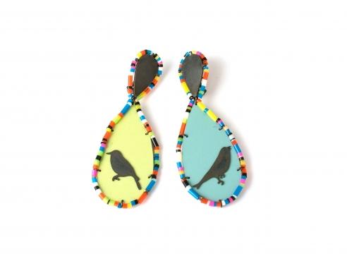 Earrings by Rebecca Hannon