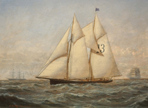 New York Pilot schooner No. 13 by Conrad Freitag