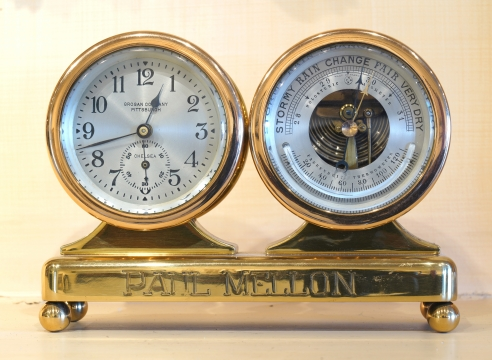 "Chelsea 3 Inch ""Columbus"" Clock and Barometer owned by Paul Mellon"