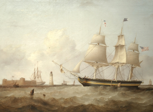 Ship Pennsylvania Coming Liverpool by Samuel Walters