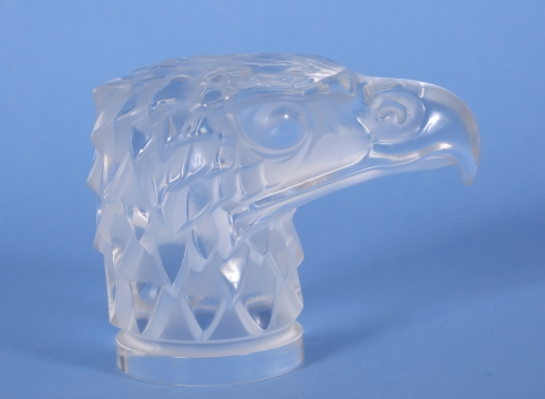Lalique Glass Hood Ornament of an Eagle