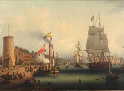 Leith Harbor by Robert Salmon