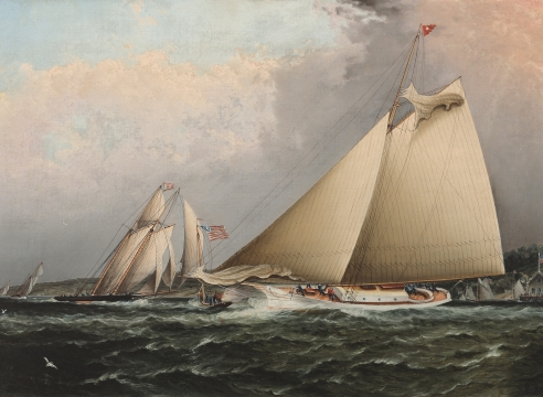 NYYC Regatta by James e. Buttersworth