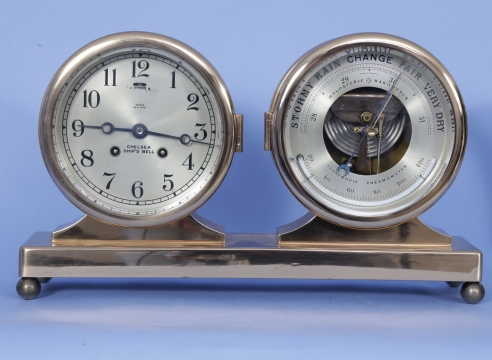 Chelsea Six Inch Dial Clock and Barometer Set