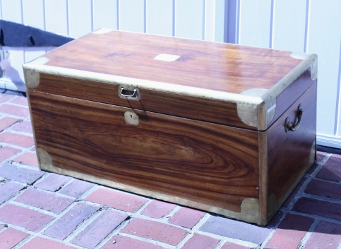 Brass Bound Camphor Wood Chest