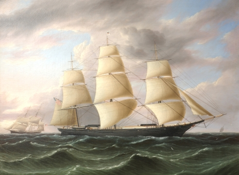 "American Clipper Ship ""Black Warrior"" by James E. Buttersworth"
