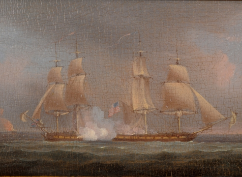 War of 1812 Engagement by Thomas Whitcomb