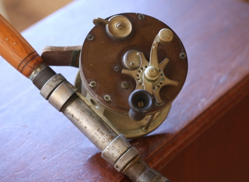 Van Hoff reel with H.R.H Tycoon Tackle Rod circa 1902