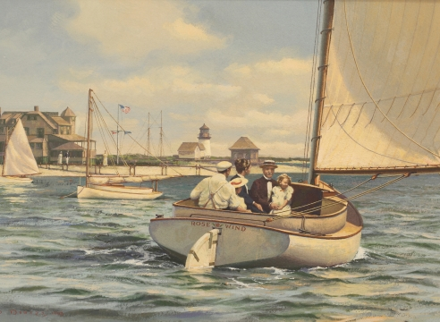 "Rounding the Light of Brant Point"" by Donald Demers"