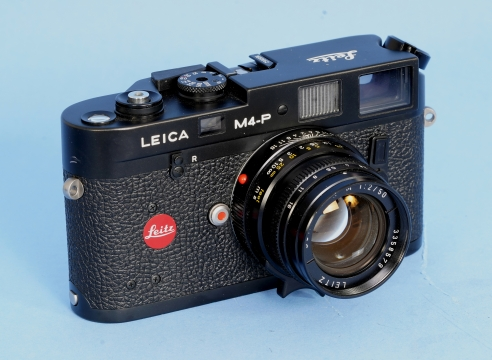Leica M4P Black body Camera #1650062 with a 50mm Leits F2 50MM Lens #3358579