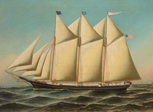 Schooner Ada Bailey by Antonio Jacobsen