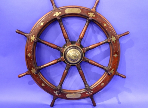 Prince of Wales Presentation Inlaid Ship Wheel