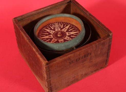 F.W. Lincoln Jr. & Co. Boxed Dry Card Compass