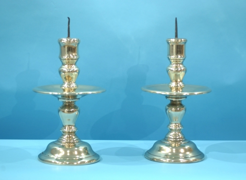 Pair of 18th century Flemish Candlesticks