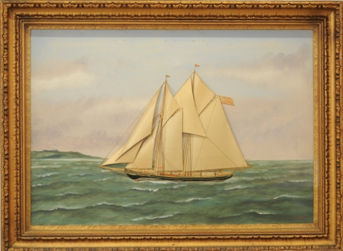 "Schooner Yacht ""Ethel Mildred"" by Thomas Willis"
