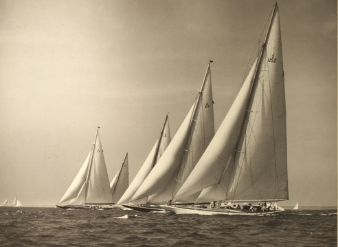 """Five J Boats"" by Morris Rosenfeld"