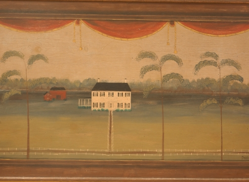 Painted Decorative Over Mantle by Phipps